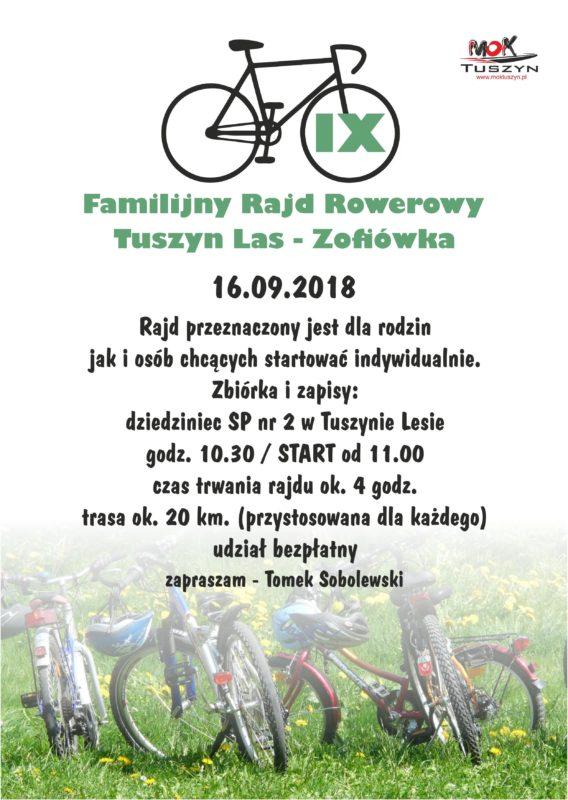 IX Familijny Rajd Rowerowy @ Tuszyn Las -Zofiówka