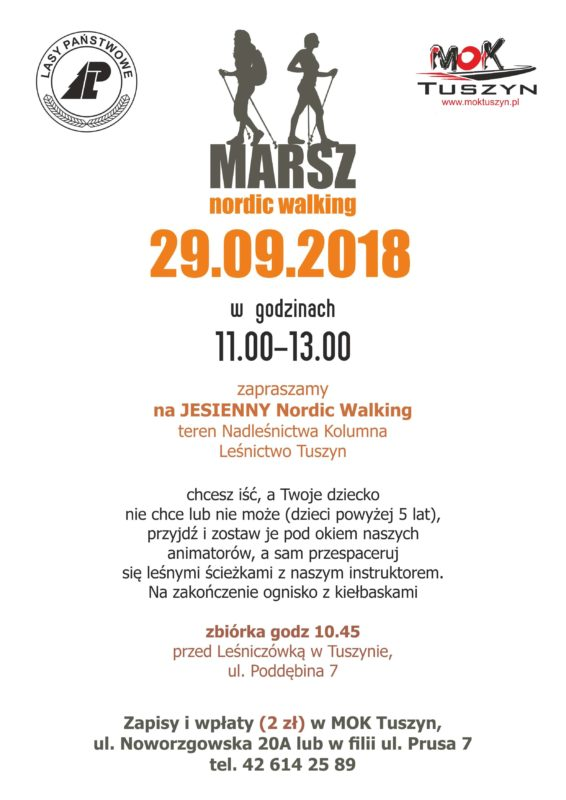 Marsz nordic walking @ Poddębina 7