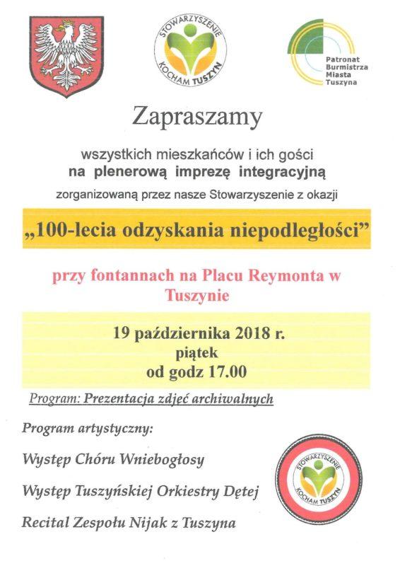 Patriotycznie w Tuszynie @ Plac Reymonta