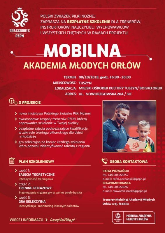 Mobilna Akademia Młodych Orłów z wizytą w Tuszynie @ Noworzgowska 20A