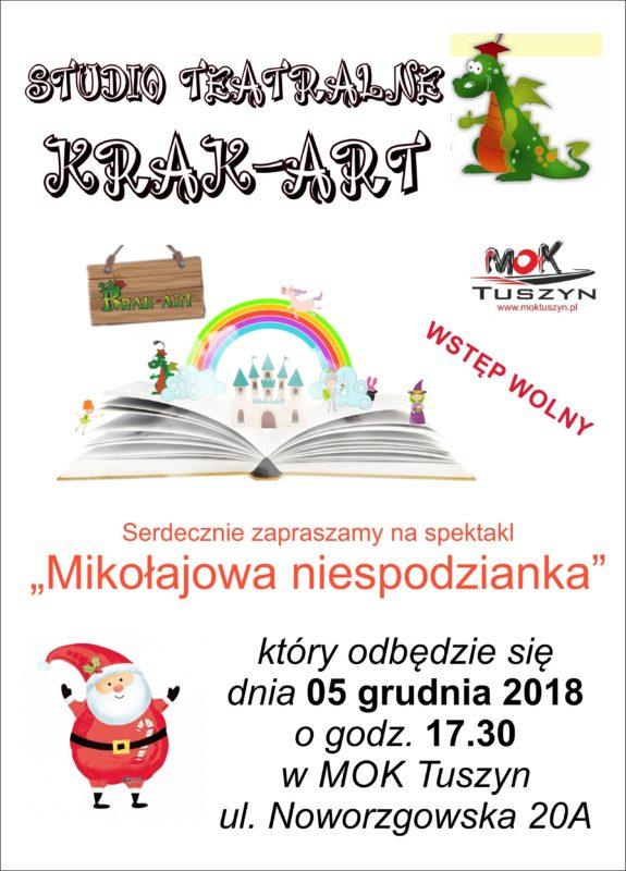 """Spektakl """"Mikołajowa niespodzianka """" @ Noworzgowska 20A"""