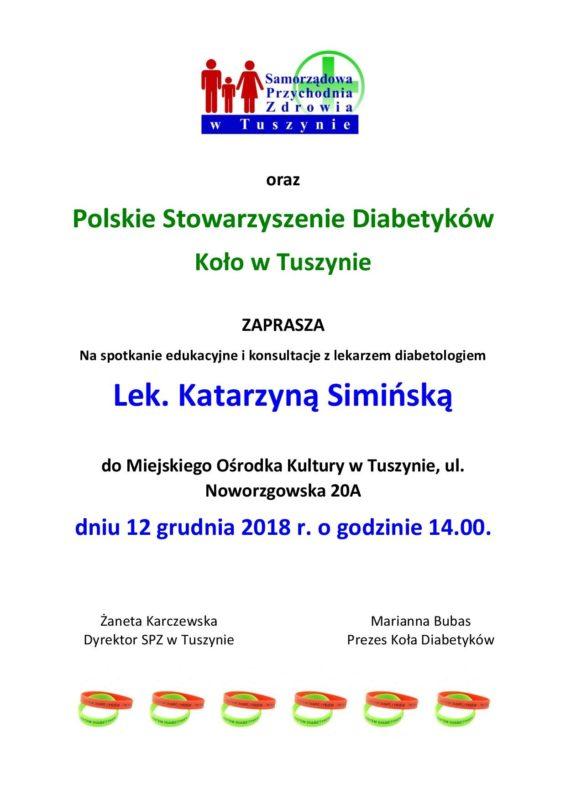 Spotkanie edukacyjne i konsultacje z lekarzem diabetologiem @ Noworzgowska 20A