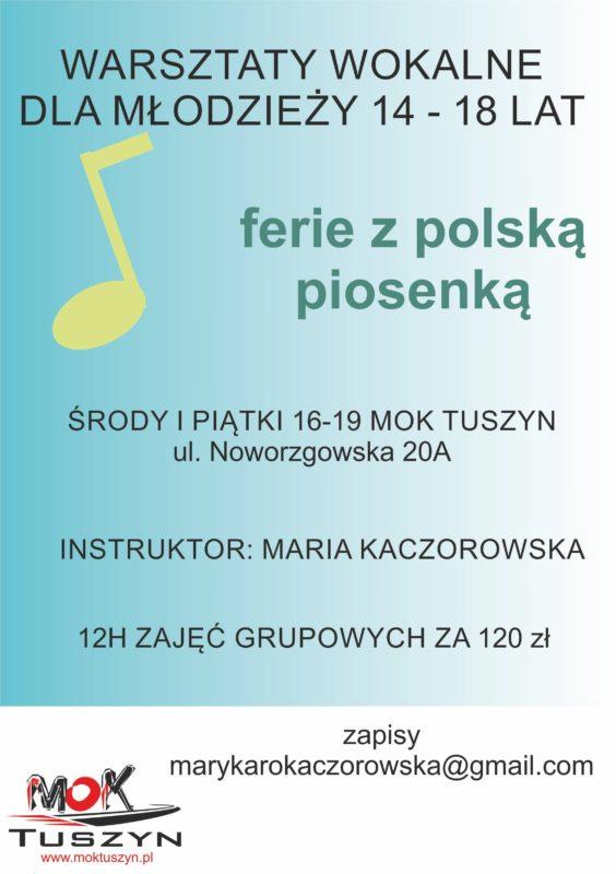 Warsztaty wokalne dla dzieci i młodzieży @ Noworzgowska 20A