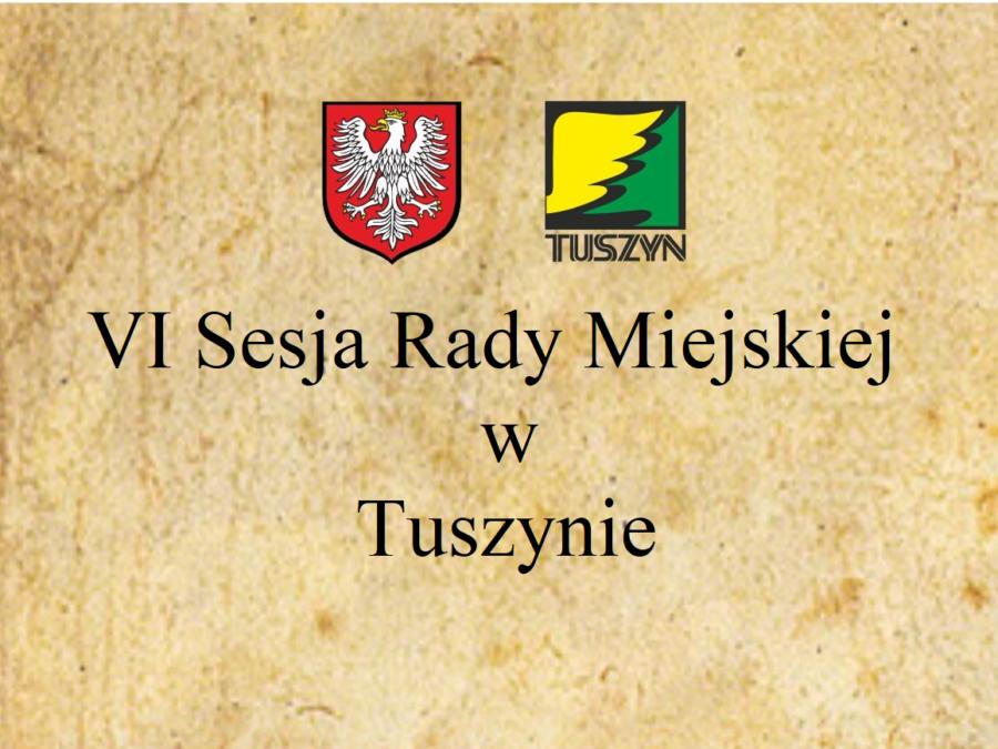 VI Sesja Rady Miejskiej w Tuszynie @ Piotrkowska 2/4