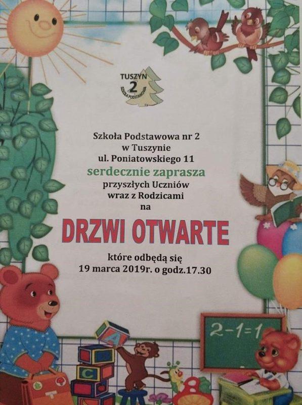 Szkoła Podstawowa nr 2 w Tuszynie serdecznie zaprasza! @ Poniatowskiego 11