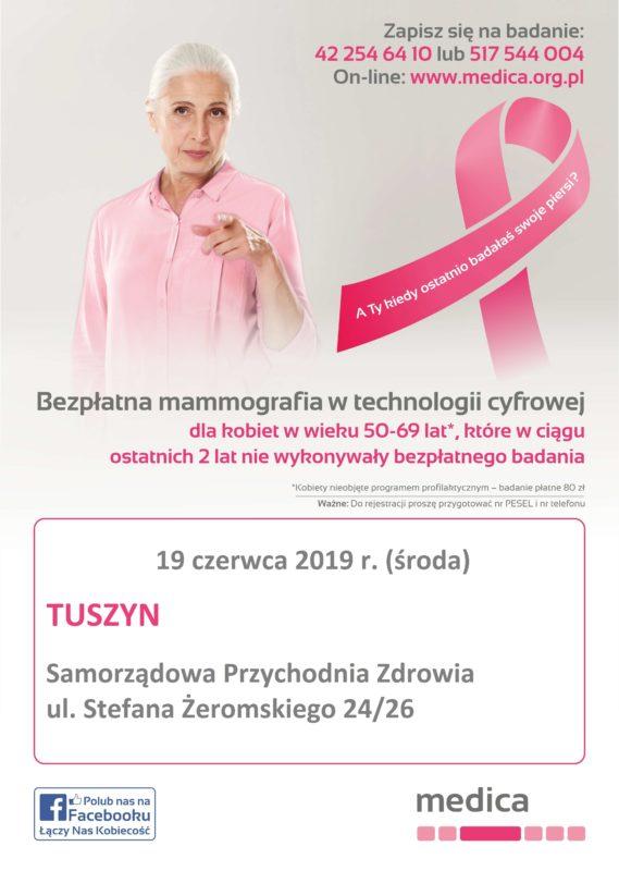 MAMMOGRAFIA W SAMORZĄDOWEJ PRZYCHODNI ZDROWIA W TUSZYNIE @ Samorządowa Przychodnia Zdrowia w Tuszynie