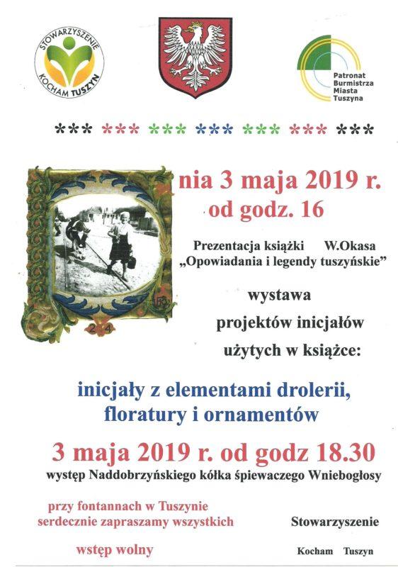 """Promocja książki """"Opowiadania i legendy tuszyńskie"""" z wystawą projektów inicjałów użytych w tej publikacji @ Plac Reymonta"""