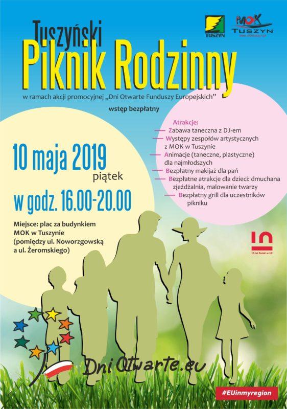 """Tuszyński Piknik Rodzinny – w ramach akcji promocyjnej """"Dni Otwarte Funduszy Europejskich"""" @ Noworzgowska 20A"""