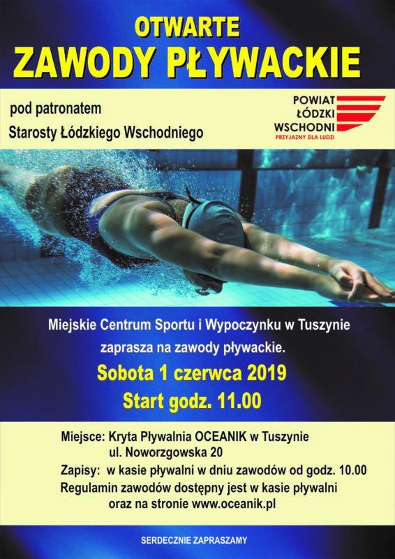 Zawody Pływackie @ Pływalnia OCEANIK w Tuszynie