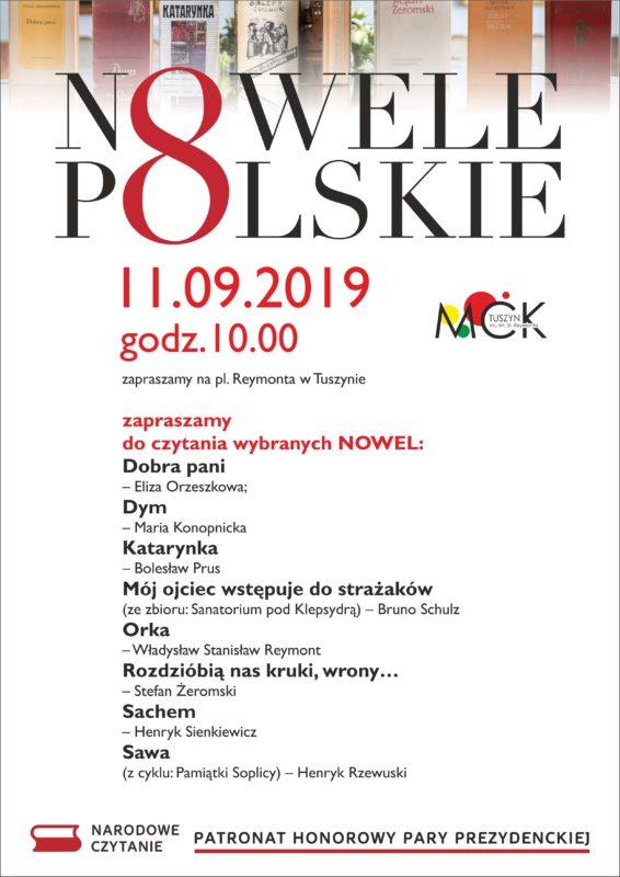 Narodowe Czytanie w Tuszynie @ Plac Reymonta w Tuszynie