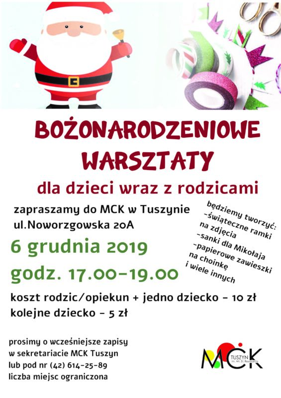 Warsztaty Bożonarodzeniowe @ Noworzgowska 20A
