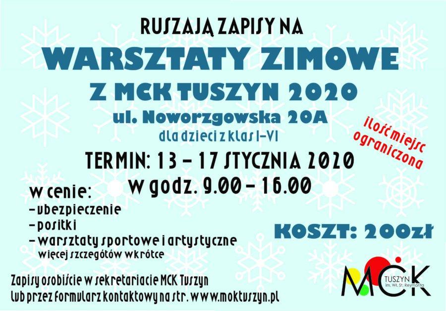 Warsztaty zimowe z MCK Tuszyn @ Noworzgowska 20A