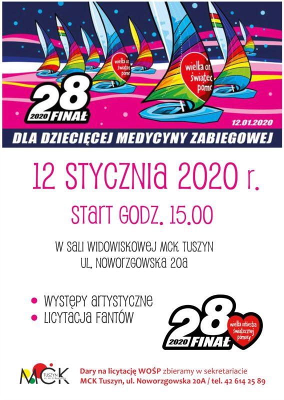 Finał WOŚP 2020 w Tuszynie