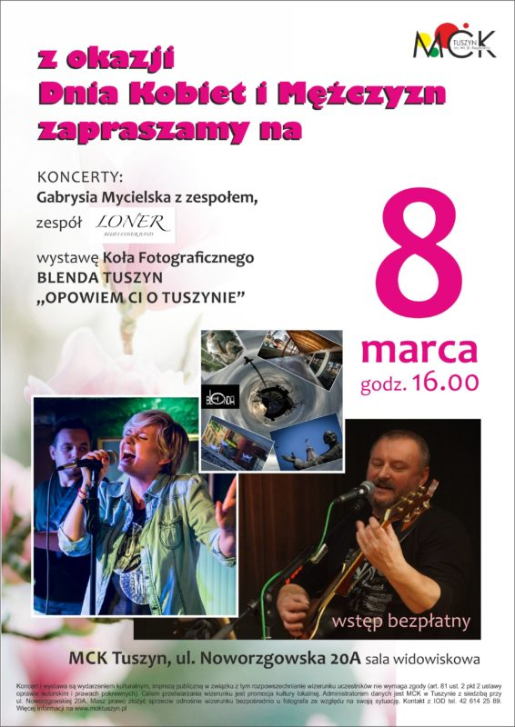 Koncert z okazji Dnia Kobiet i Mężczyzn @ ul,Noworzgowska 20A