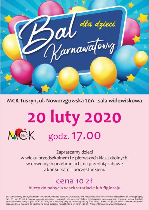 Bal karnawałowy dla dzieci @ Noworzgowska 20A