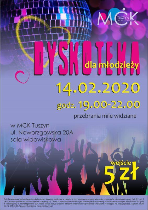 Walentynki - Dyskoteka dla młodzieży @ Noworzgowska 20A